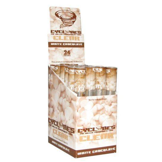 CYCLONE CLEAR WHITE CHOCOLATE 24 - Cig Corp Wholesalers