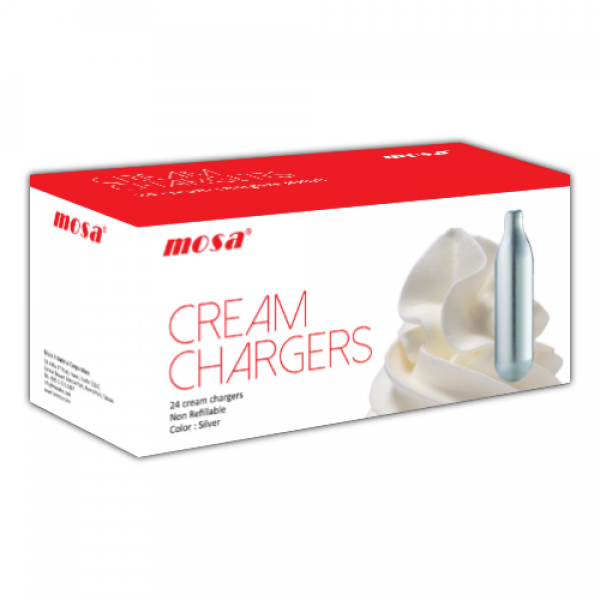 MOSA CREAM CHARGERS N2O 24 PACK (24 BULBS) - Cig Corp Wholesalers