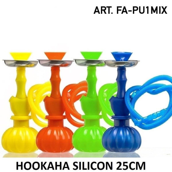 Hookah Silicon-H:25cm- 1x synthetic hose-1x tong