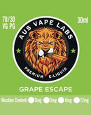 AUS VAPE LABS Grape Escape 30ml - Cig Corp Wholesalers