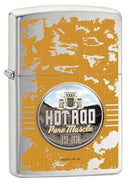 "ZIPPO ""HOT ROD PURE MUSCLE"" BRUSHED CHROME COLOR LIGHTER - Cig Corp Wholesalers"