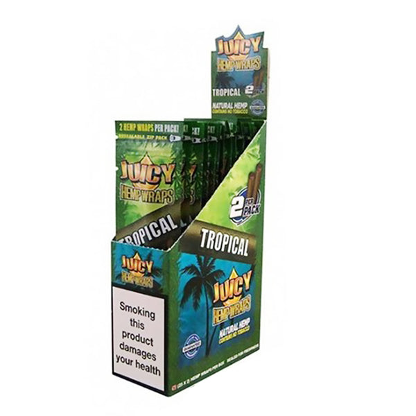 Juicy Jay's Hemp Wraps Blunt Tropical 25pk