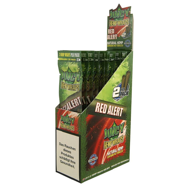 Juicy Jay's Hemp Wraps Blunt Red Alert 25pk