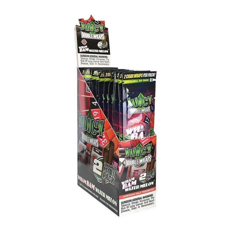 Juicy Jay's Double Wraps Wham Bam Water Melon 25pk