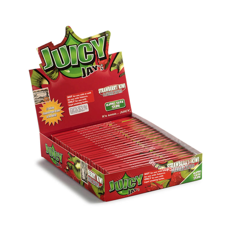 Juicy Jay's King Size Slim Strawberry Hemp Papers 24pk