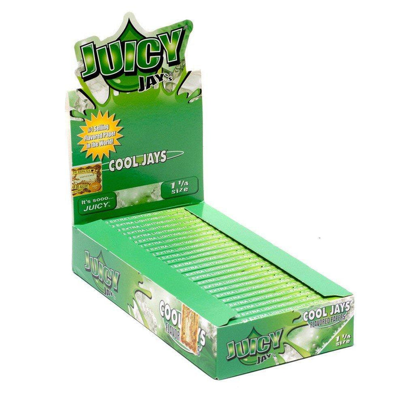 Juicy Jay's 1 ¼ Size Cool Jay's Hemp Papers 24pk - Cig Corp Wholesalers