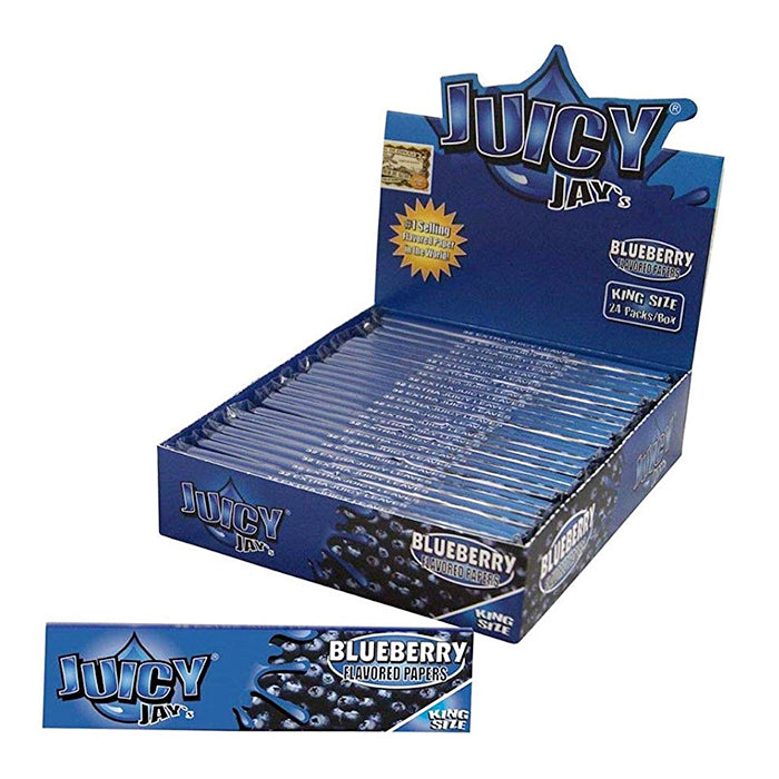 Juicy Jay's King Size Slim Blueberry Hemp Papers 24pk