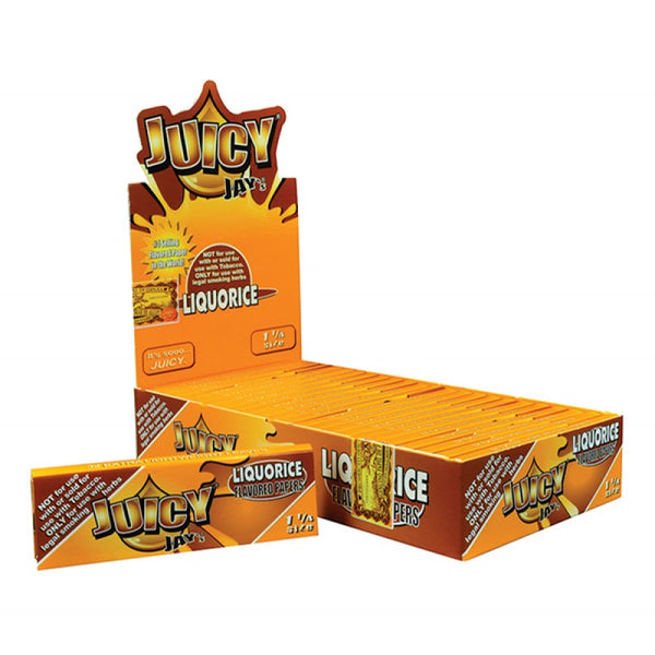 Juicy Jay's 1 ¼ Size Licorice Hemp Papers 24pk