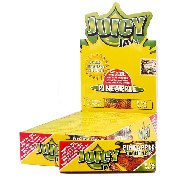 Juicy Jay's 1 ¼ Size Pineapple Hemp Papers 24pk