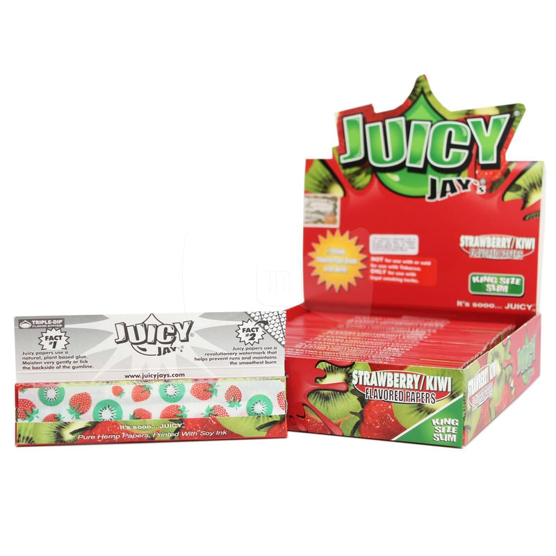 Juicy Jays Strawberry Kiwi Flavoured Rolling Papers King Size Slim 24