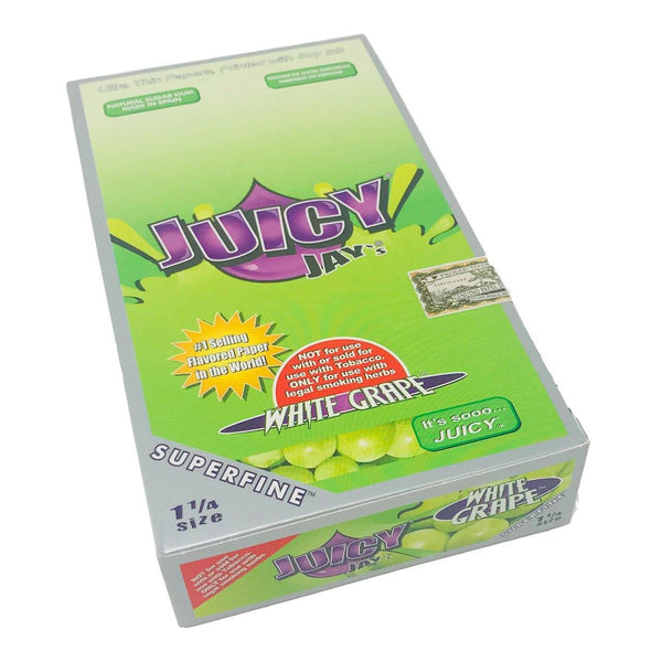 Juicy Jay's 1 ¼ Size White Grape Hemp Papers 24pk