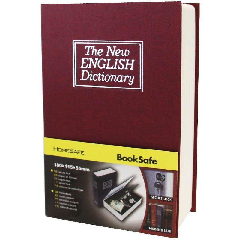 BOOK SAFE WITH KEY LOCK