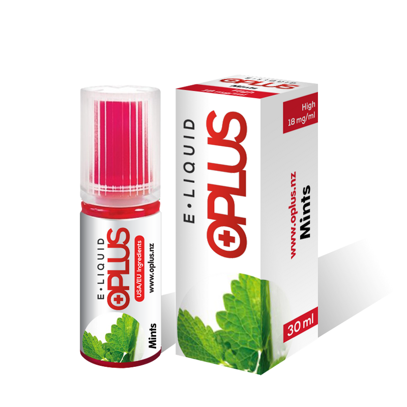 OPLUS E-LIQUID MINTS FLAVOUR 30ML 10 BOTTLES