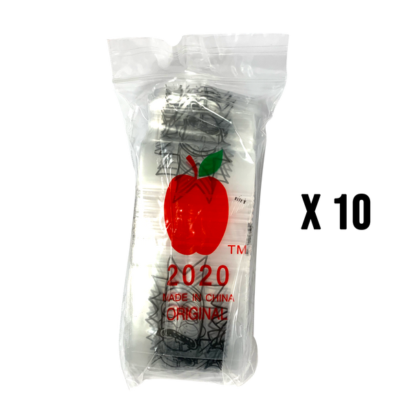 1000 Apple2020 Resealable Plastic Bags 50 x 50mm Rick