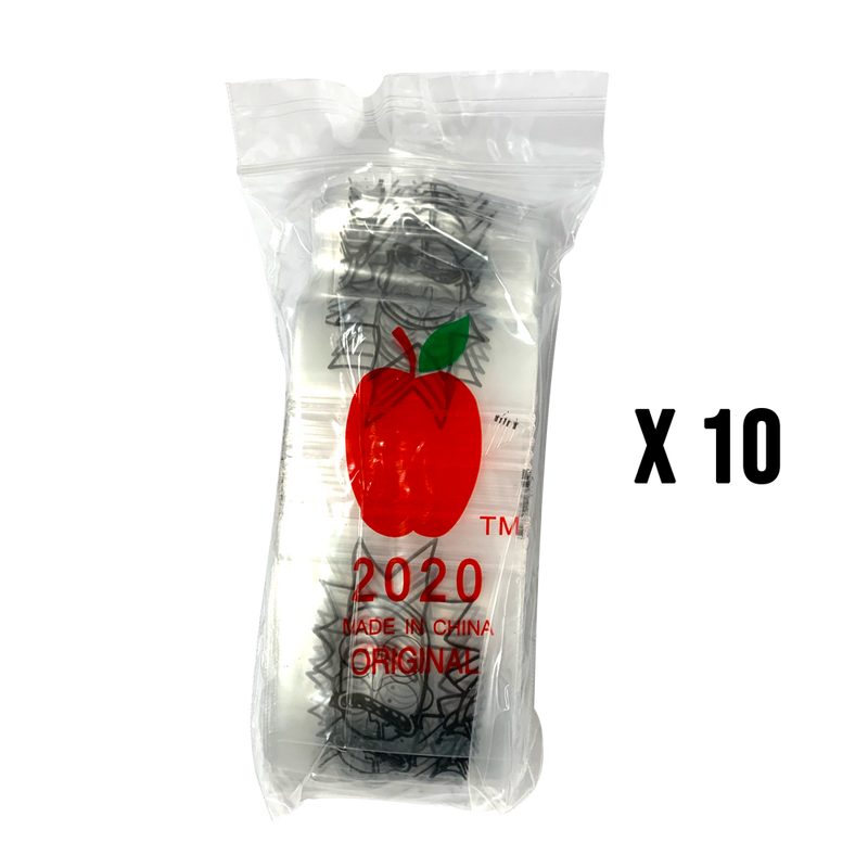 1000 Apple2020 Resealable Plastic Bags 50 x 50mm Rick - Cig Corp Wholesalers