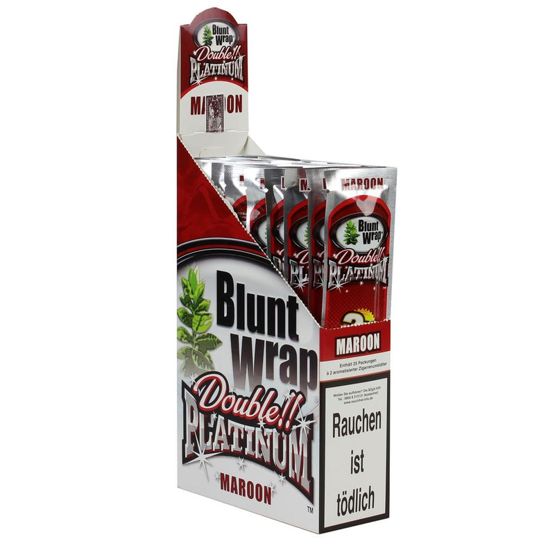 Platinum Double Blunt Wrap Maroon 50 Blunts