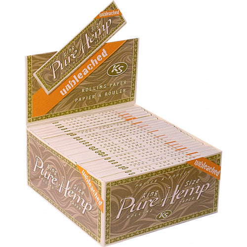 Pure Hemp King Size Unbleached Rolling Papers 50 packs