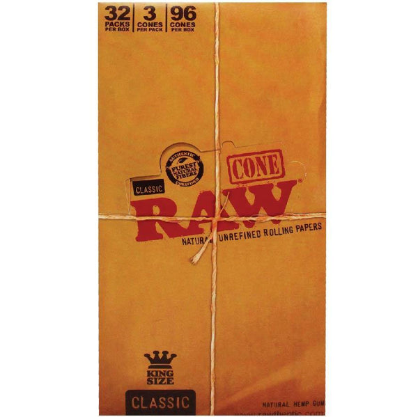Raw Cones Classic King Size 32pk - Cig Corp Wholesalers
