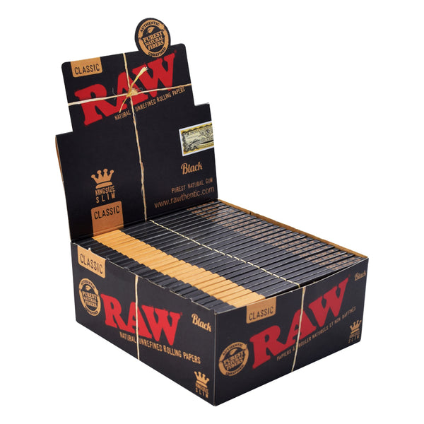 Raw Classic Black King Size Slim Papers 50