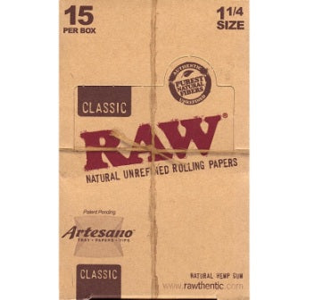 Raw Artesano 1.1/4 Size Papers with Tips/Tray