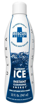 Rescue Detox ICE Drinks -32 oz 947ml  Blueberry