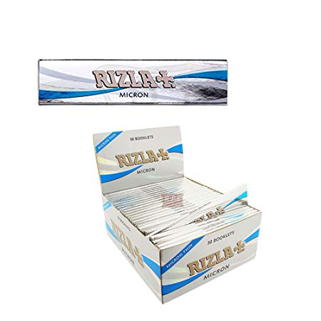 RIZLA MICRON KING SIZE SILVER - 50 PACK