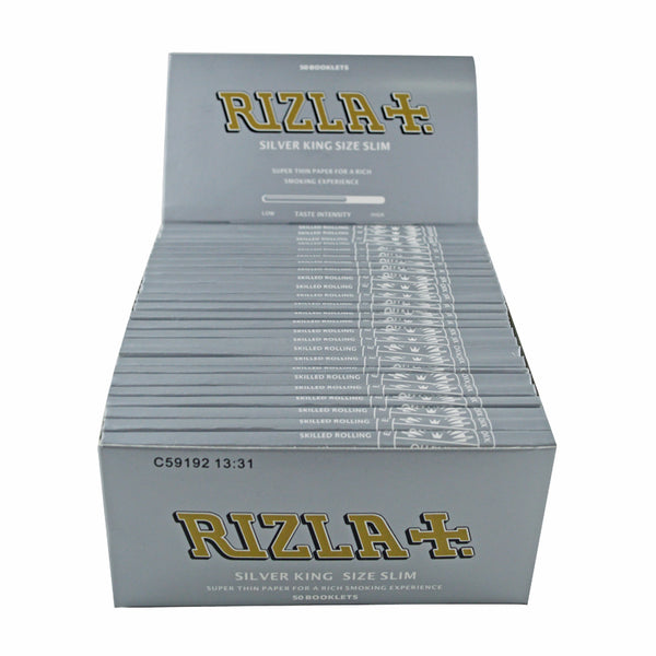 RIZLA SILVER KING SIZE SLIM 50 BOOKLETS