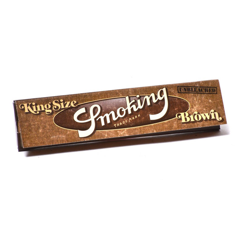Smoking King Size Brown Rolling Papers 50 x 33 sheets