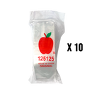 1000 Apple125125 Resealable Plastic Bags 32 x 32mm Clear - Cig Corp Wholesalers