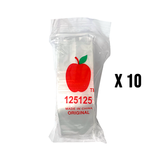 1000 Apple125125 Resealable Plastic Bags 32 x 32mm Clear