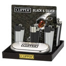 CLIPPER METAL CLIPPERS LIGHTERS BLACK AND SILVER