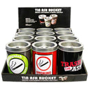 TIN ASH BUCKET 12PCS