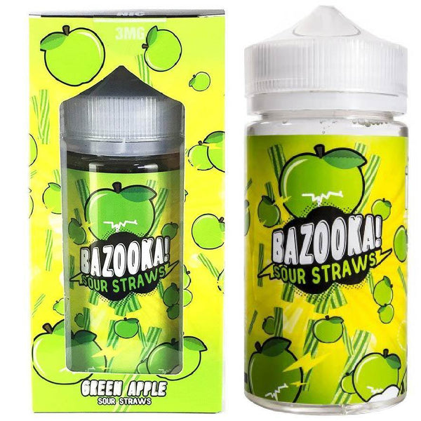 BAZOOKA! SOUR STRAWS GREEN APPLE 200ML