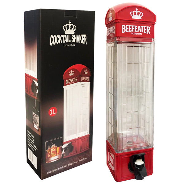 London Telephone Booth Cocktail Shaker and Server Drink Wine Beer Dispenser