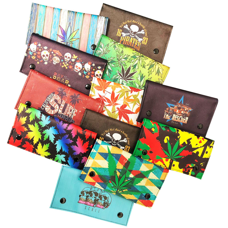 TOBACCO POUCH ASSORTED DESIGN - 12PCS / DISPLAY