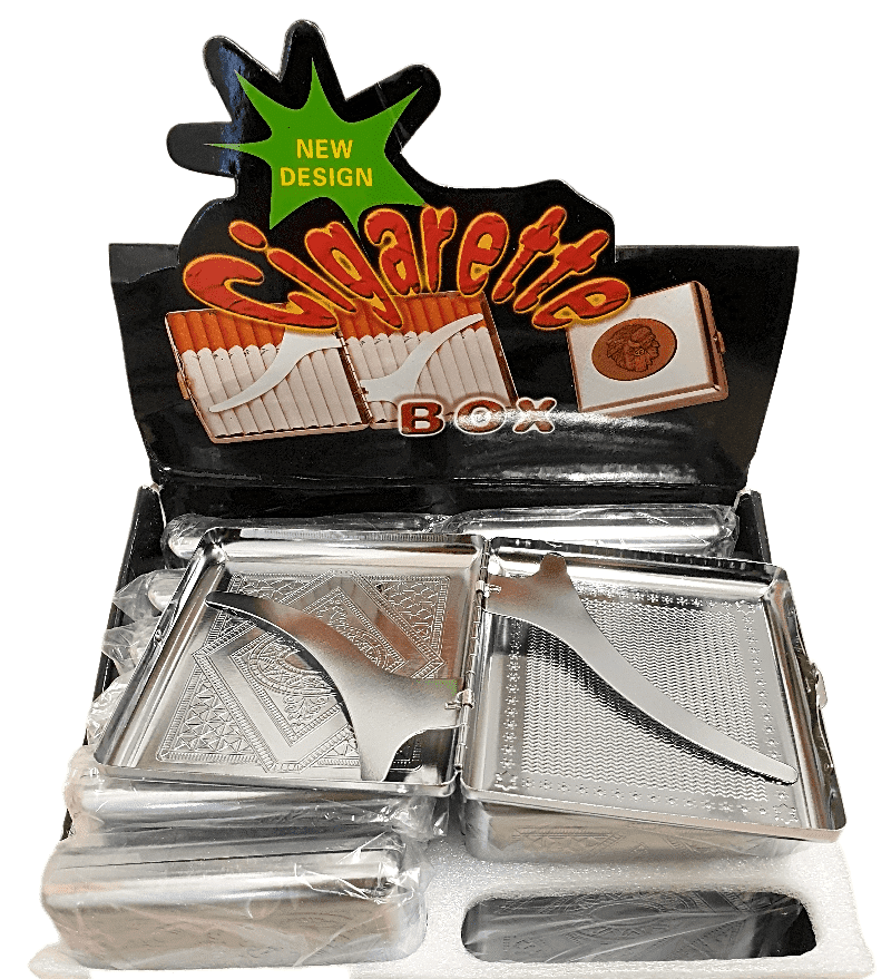 CIGARETTE METAL CASE  12PC DISPLAY - Cig Corp Wholesalers