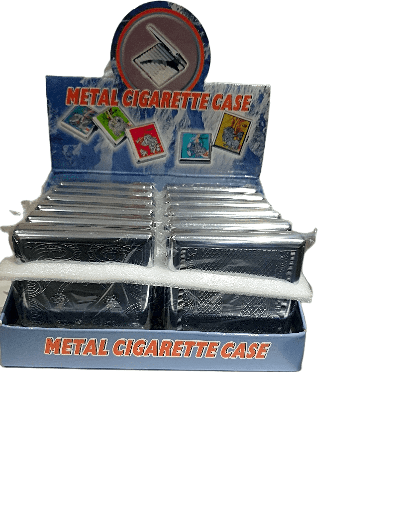 METAL CIGARETTE CASE  12PCS - Cig Corp Wholesalers