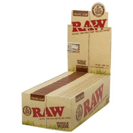 Raw Organic Single Wide Papers 50