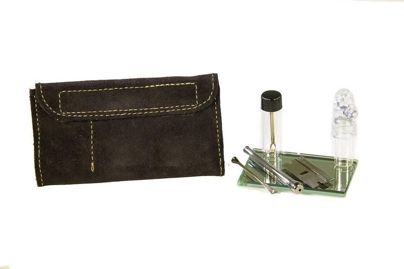 SUEDE LEATHER SNUFF KIT (BLACK)