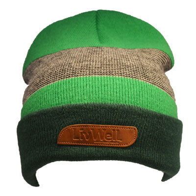 Green Beanie with Patch