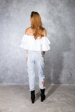 Jerelyn Off Shoulder Top in White