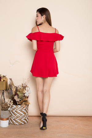 Mabelin Strap Dress in Red