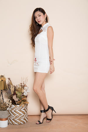 Jessical Cheongsam Dress in White
