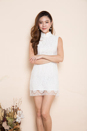 Jolleeyn Crochet Dress in White