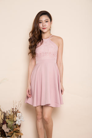 Angelika Crochet Dress in Pink