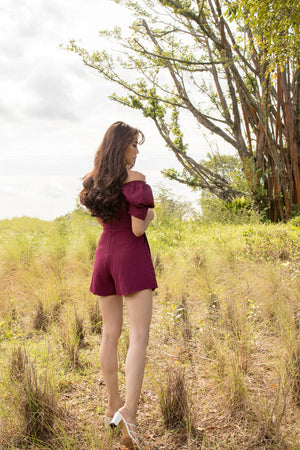 *PREMIUM* - Serilia Two-way Romper in Burgundy