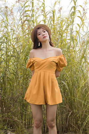 *PREMIUM* - Serilia Two-way Romper in Mustard