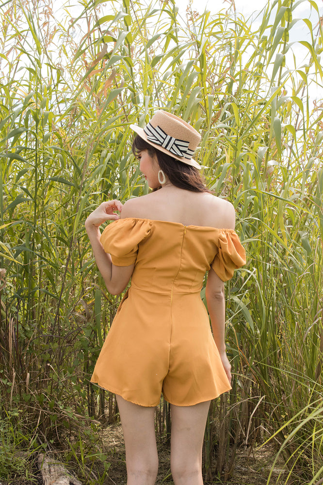 Load image into Gallery viewer, *PREMIUM* - Serilia Two-way Romper in Mustard