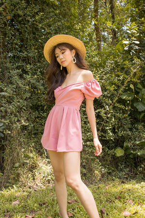 *PREMIUM* - Serilia Two-way Romper in Pink