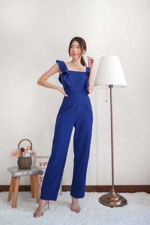 *PREMIUM* - Regilia Two Ways Flutter Jumpsuit in Cobalt Blue * - Self Manufactured by LBRLABEL